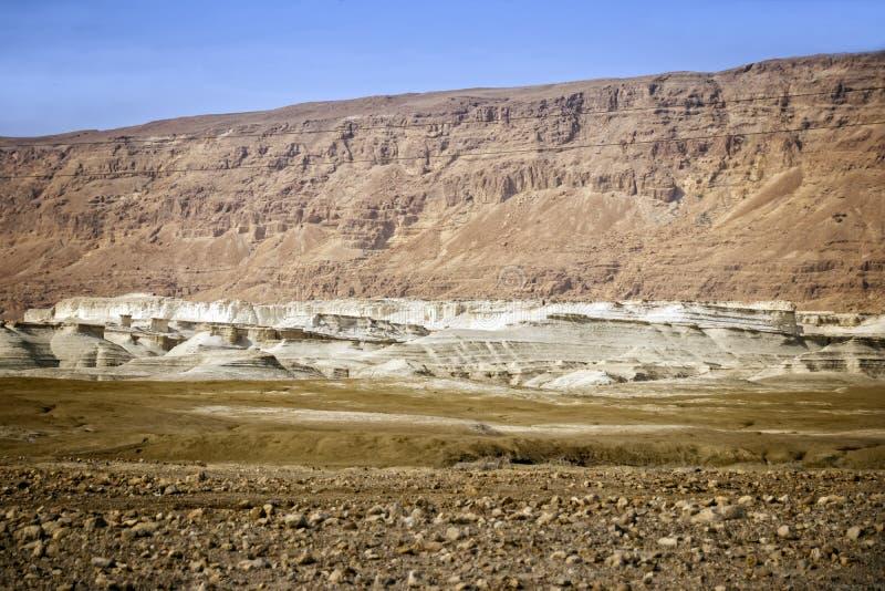 Montañas multicoloras del desierto del Néguev foto de archivo libre de regalías