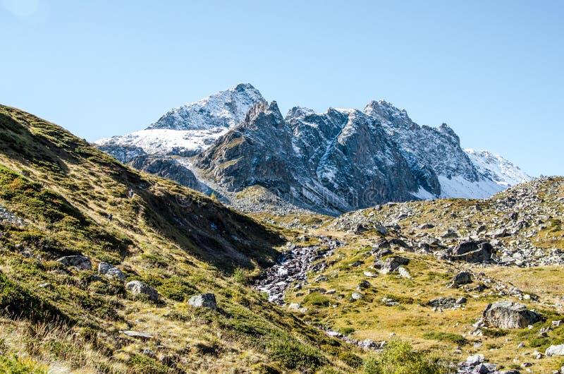 Montañas, naturaleza, cima, turismo fotos de archivo
