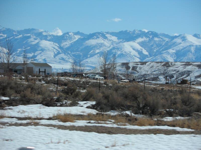 Montañas nevadas de Ruby imágenes de archivo libres de regalías