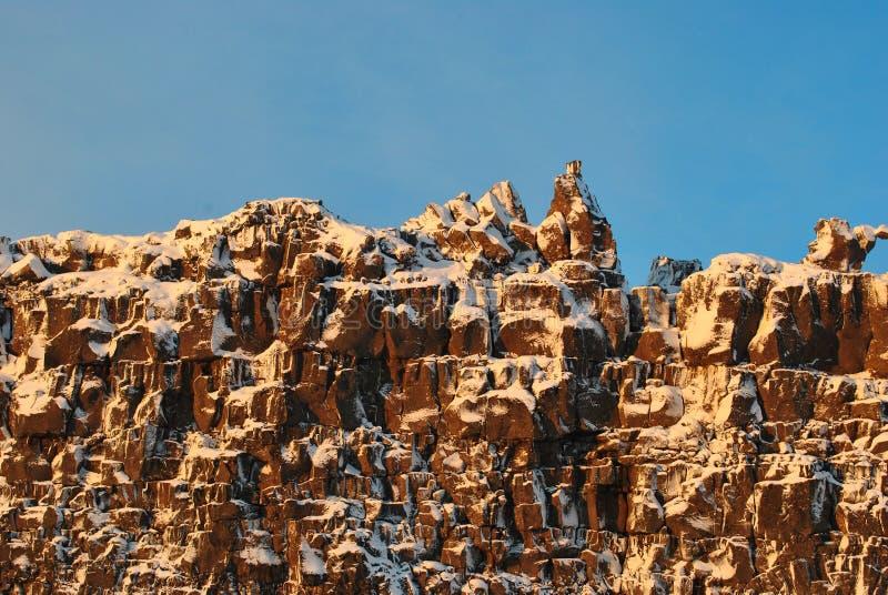 Montañas parque nacional, Islandia fotos de archivo