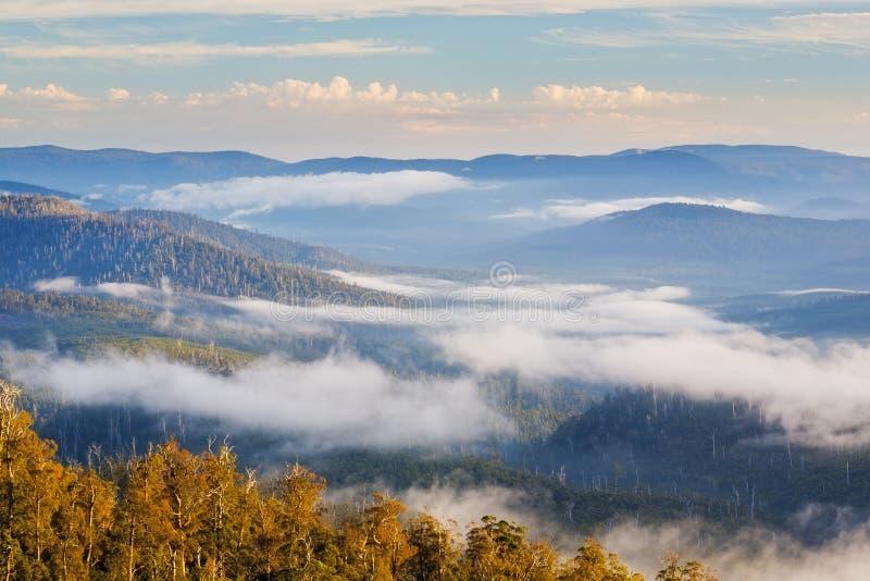 Montañas parque nacional, Tasmania de Hartz foto de archivo libre de regalías