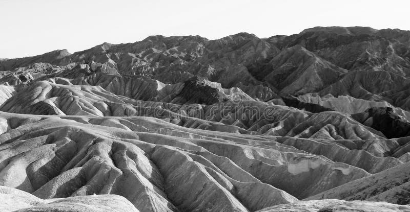 Montañas que erosionan impasibles de Death Valley imagen de archivo libre de regalías