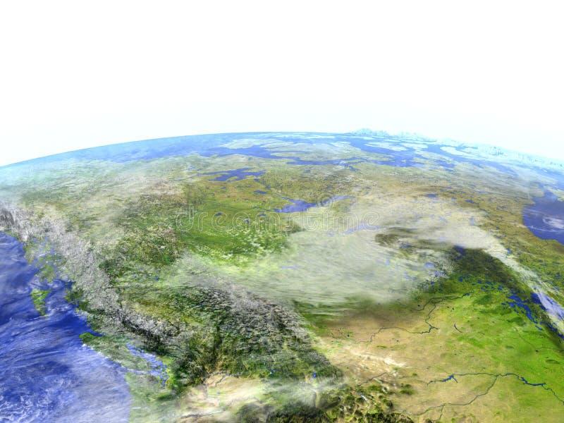 Montañas rocosas en el modelo realista de la tierra libre illustration