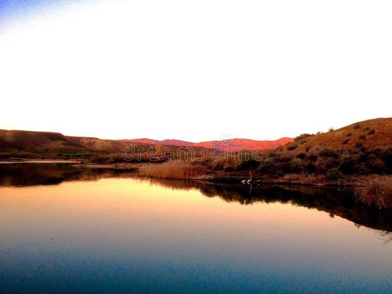 Montañas rojas foto de archivo