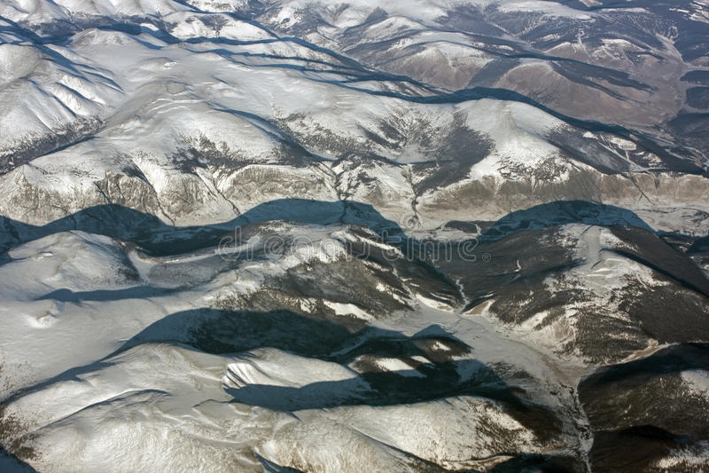 Montañas siberianas fotografía de archivo
