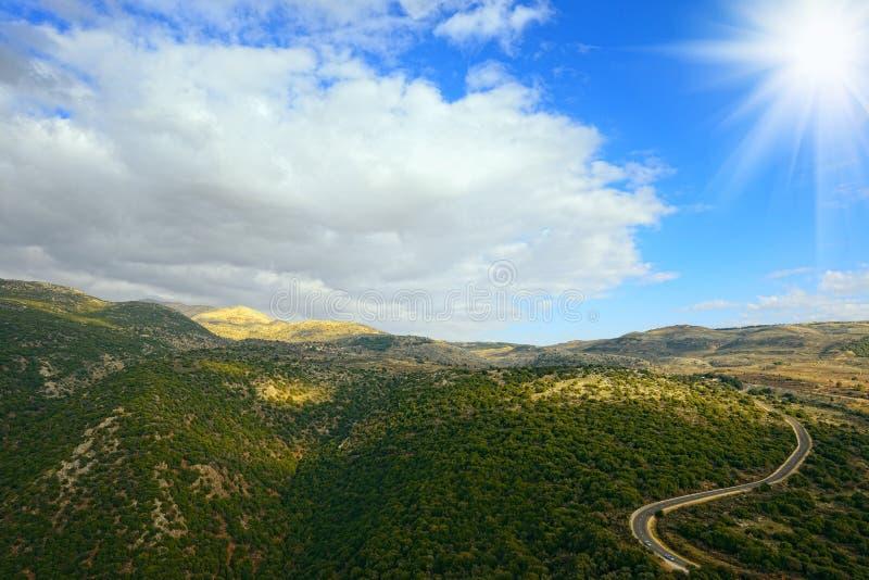Montañas superiores de Galilea Israel del norte imagenes de archivo