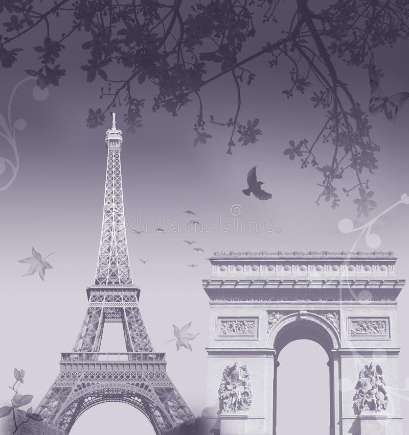 montaż Paryża ilustracji