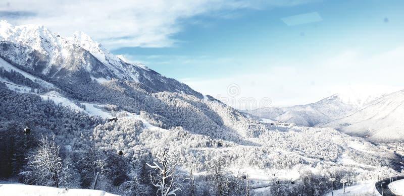 Monta?as del invierno fotos de archivo libres de regalías