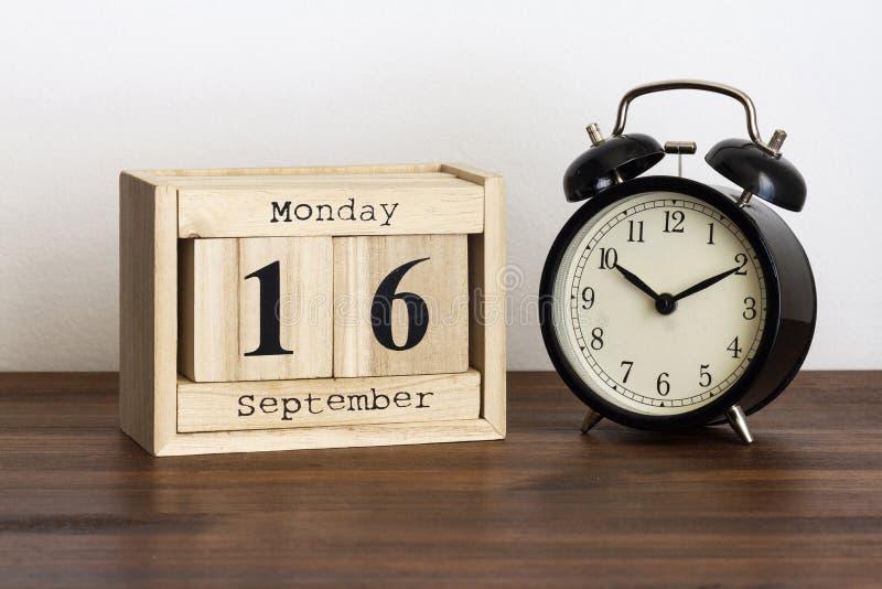 Montag, den 16. September lizenzfreies stockbild