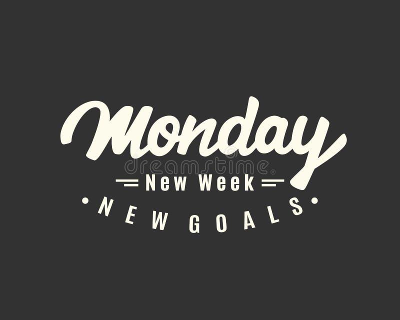 montag Neue Woche, neue Ziele vektor abbildung