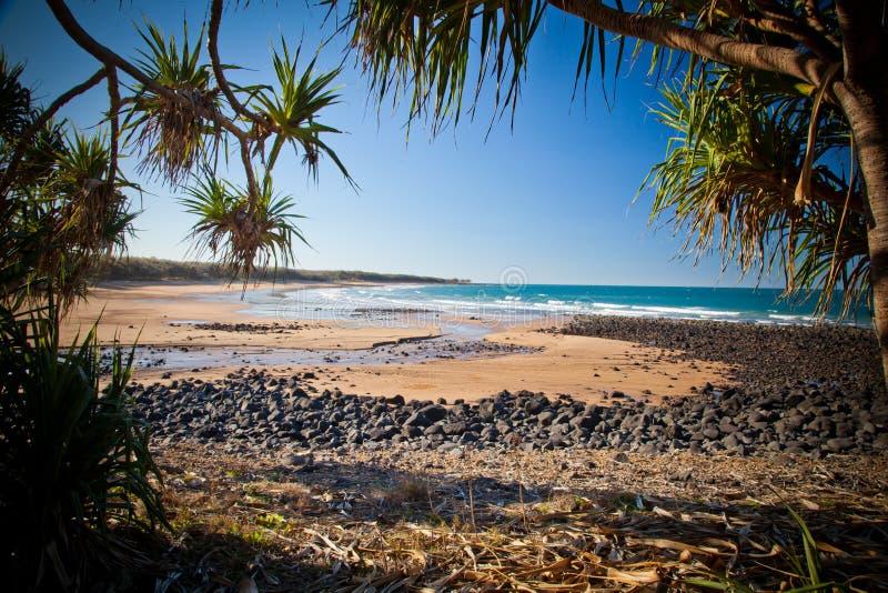 Montag-Repos-Strand Bundaberg Queensland Australien lizenzfreies stockfoto
