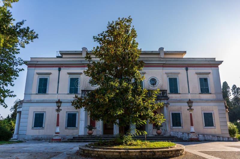 Montag-Repospalast in Korfu Griechenland lizenzfreie stockfotografie