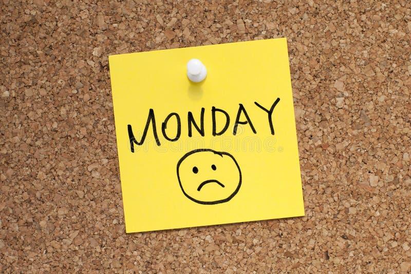 Montag-Traurigkeit lizenzfreies stockbild