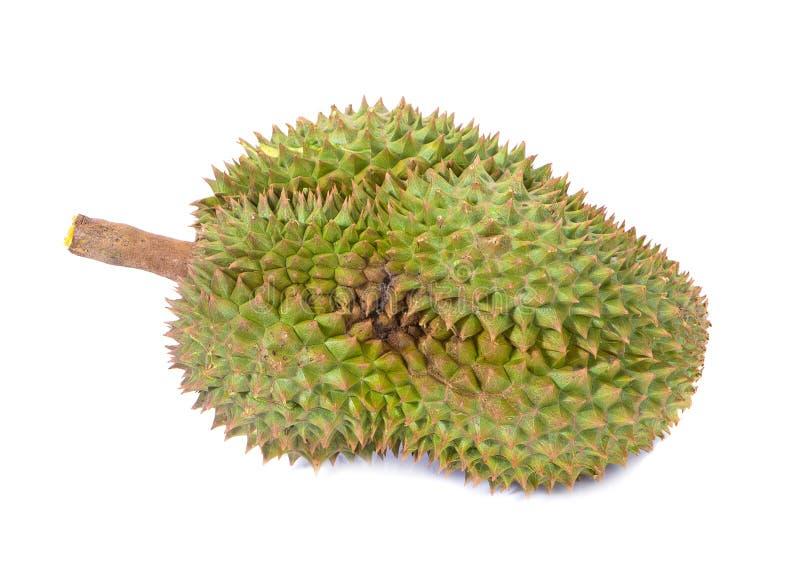 Montag-Zapfen Durian ist Fruchtplatte tropischer Durian und K?nig von Fr?chte Durian auf wei?er lokalisierten Hintergrund dem ges lizenzfreies stockbild