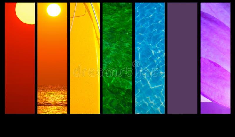 montage χρωμάτων διανυσματική απεικόνιση