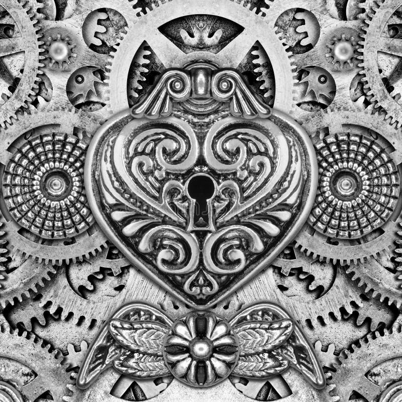 Montage abstrait de Steampunk illustration stock