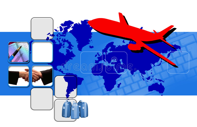Montage on business travel royalty free illustration
