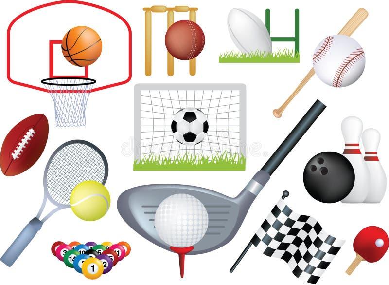 Montage détaillé de sports illustration libre de droits