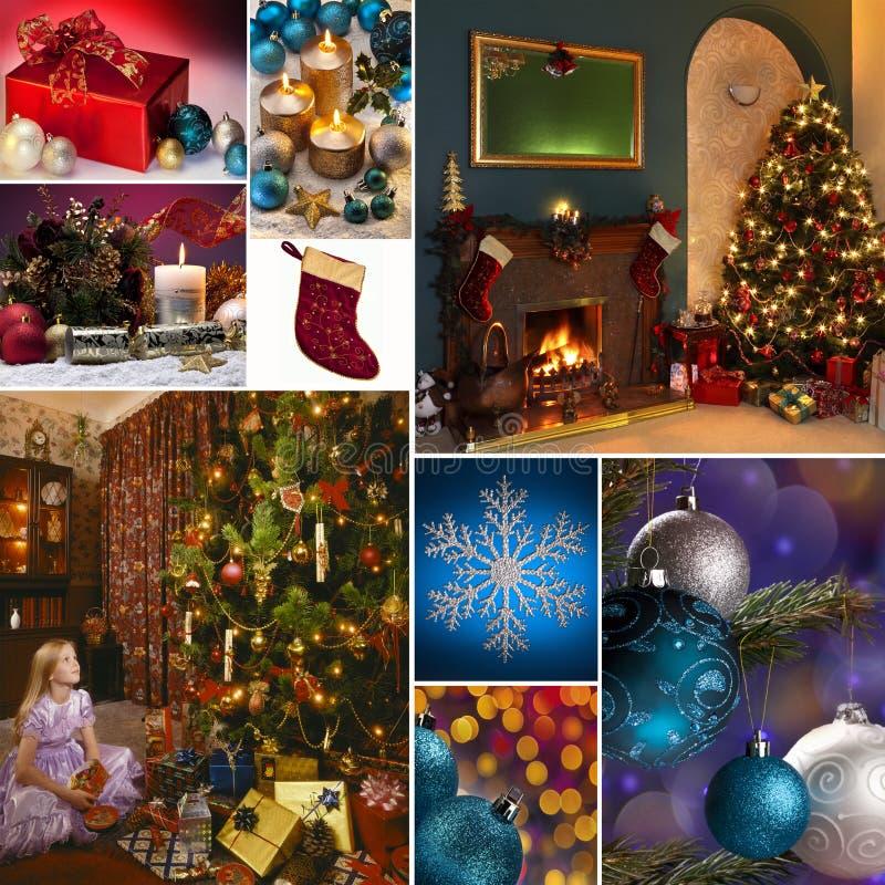Montage de célébrations de Noël photo libre de droits