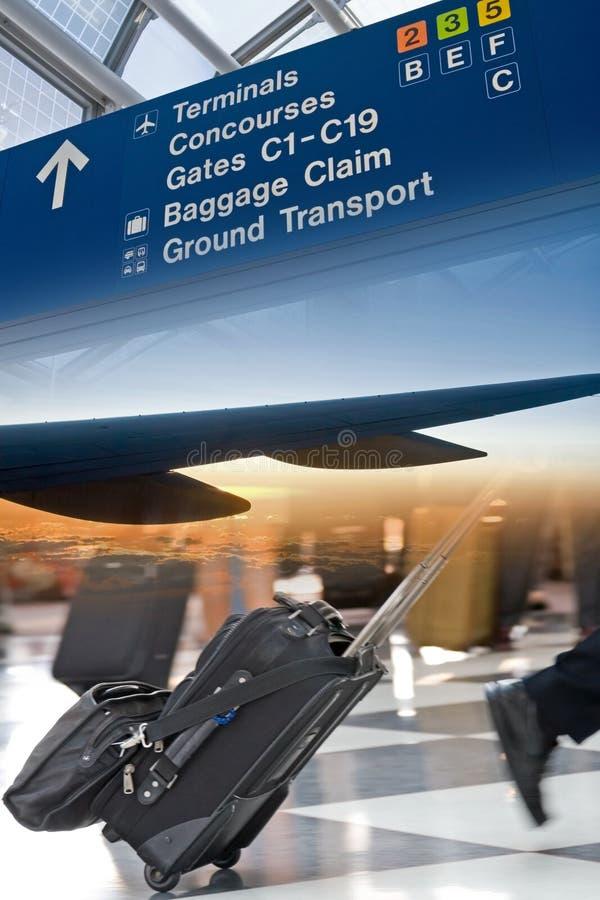 Montage de course d'aéroport photos stock