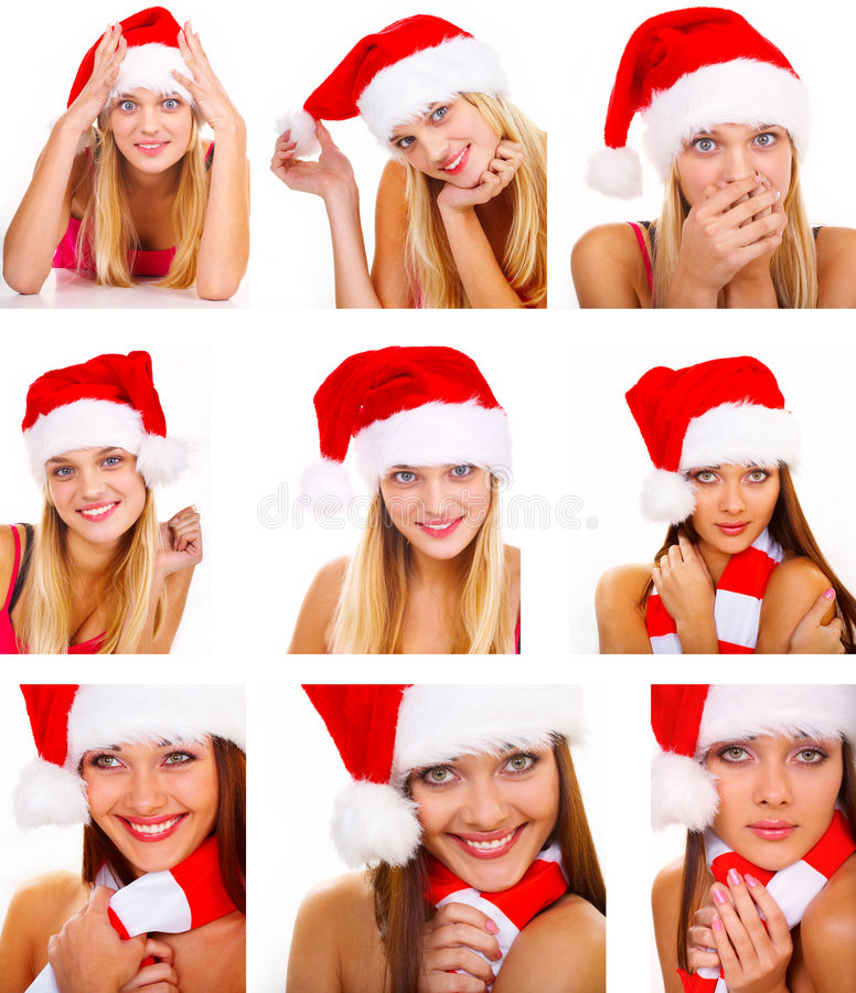 Montage de femme de Santa photos stock