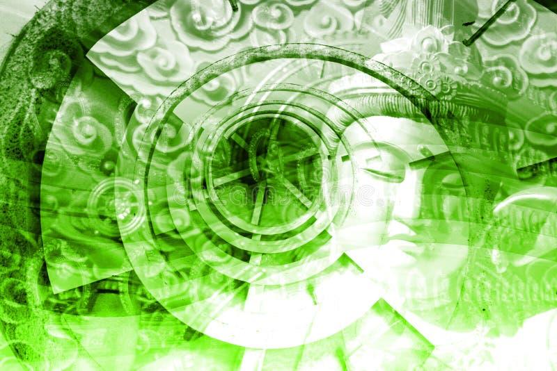 montage de l'Asie mystique illustration de vecteur