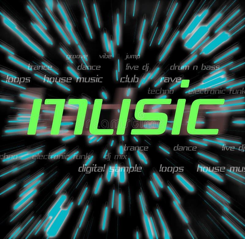 Montage de musique illustration libre de droits