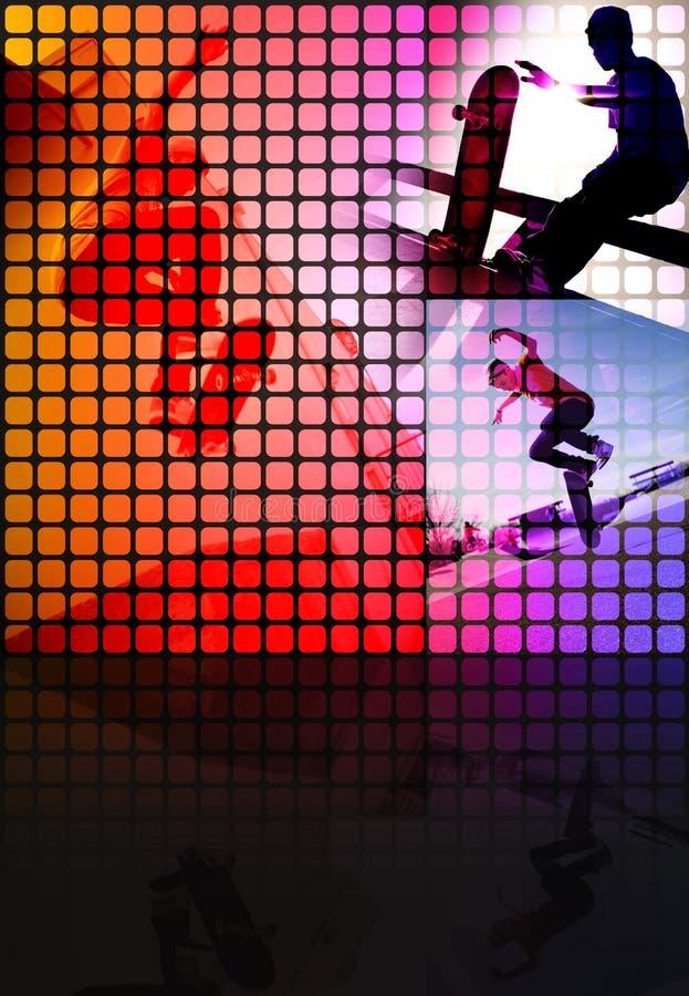 Montage de patineur illustration de vecteur