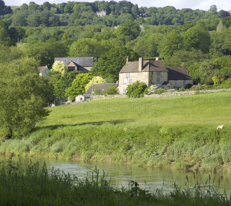 Montage en étoile de fleuve l'anglais du Pays de Galles de monmouthshire de gloucestershire de vallée de montage en étoile images stock