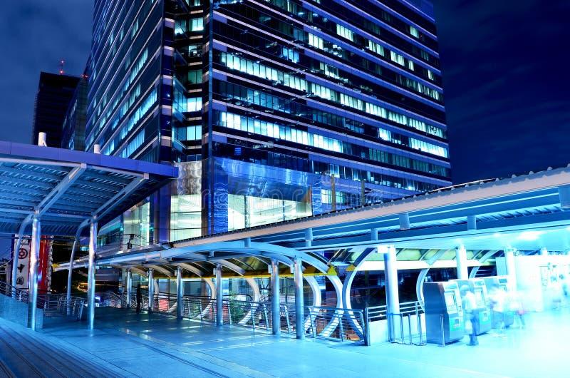 Montage en pont de ciel à la gare de transit rapide de Bangkok, Bangkok, images stock