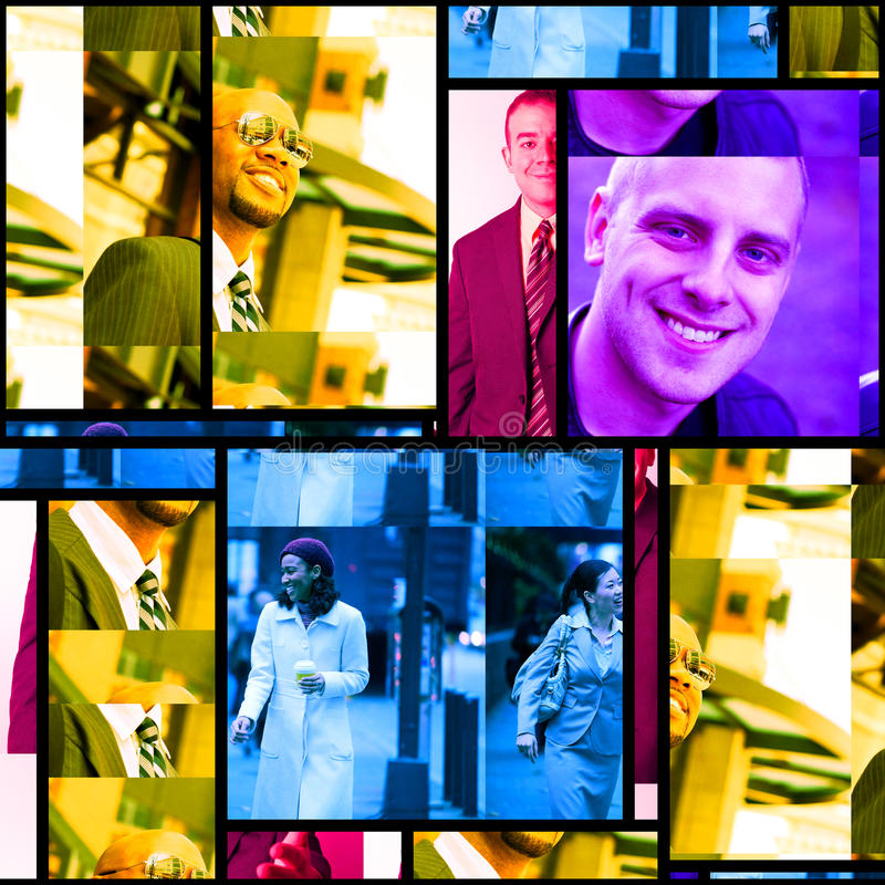 Montage för affärsfolk royaltyfria bilder