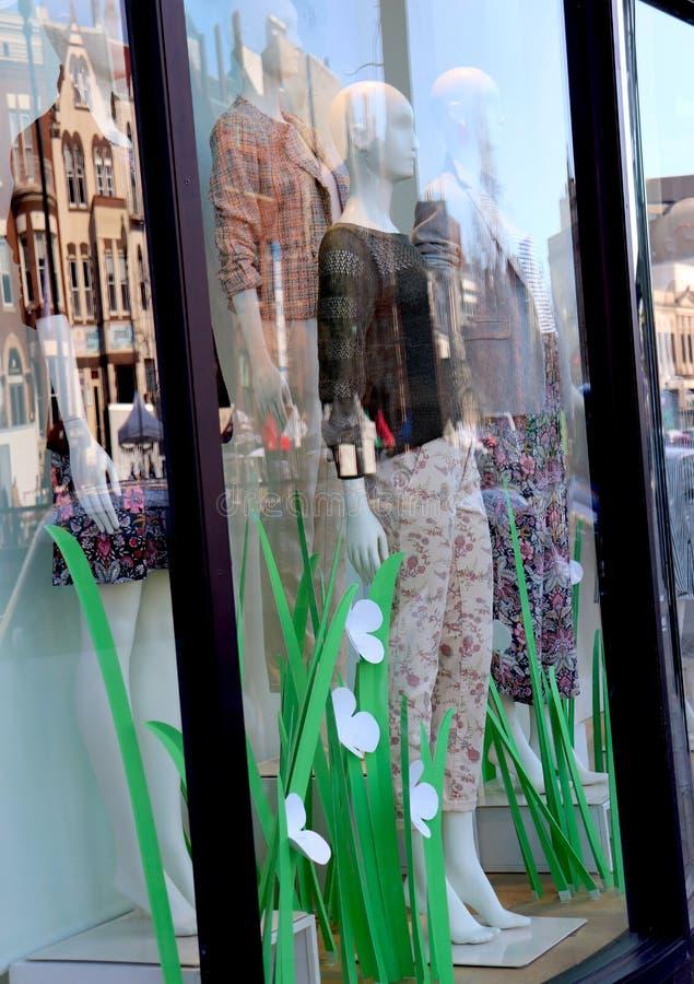 Montage of Shop Window, Street, Buildings stock photos