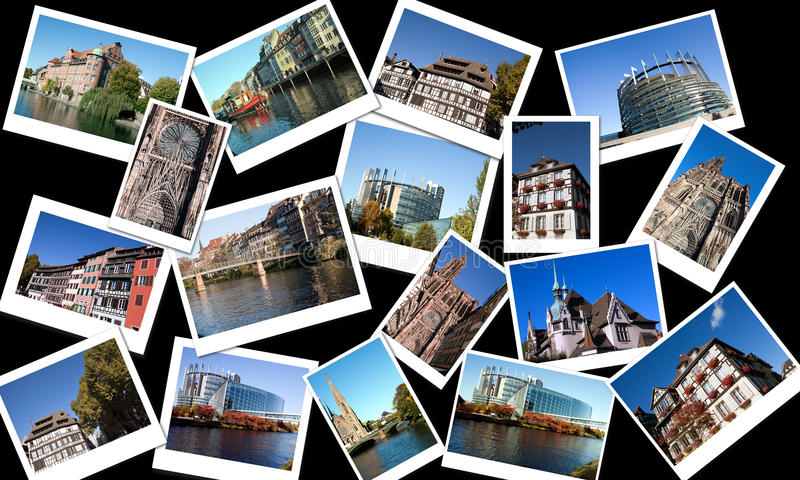 Download Montage of Strasbourg stock photo. Image of alsace, community - 22117362