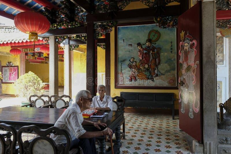 Montagehal van de Chinese Congregatie van Chaozhou, Hoi An, Vietnam stock foto