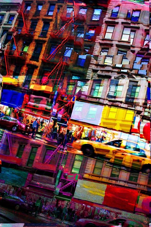Montagem abstrato da cidade ilustração royalty free