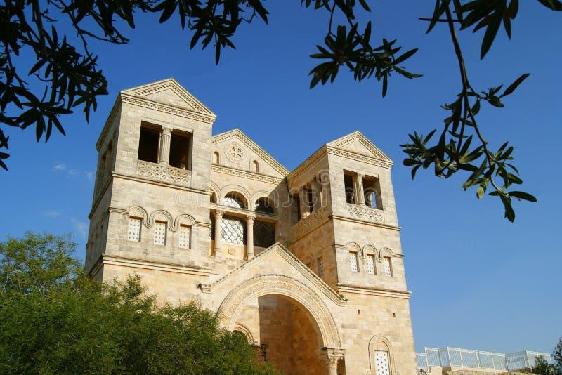 Montagem antiga Tabor da igreja, Israel fotos de stock royalty free