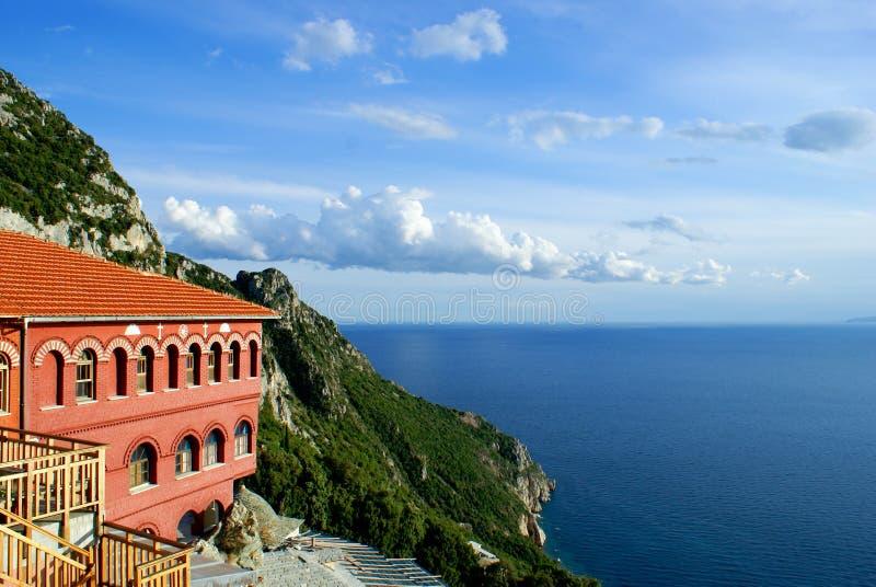 Montagem Athos em Greece foto de stock