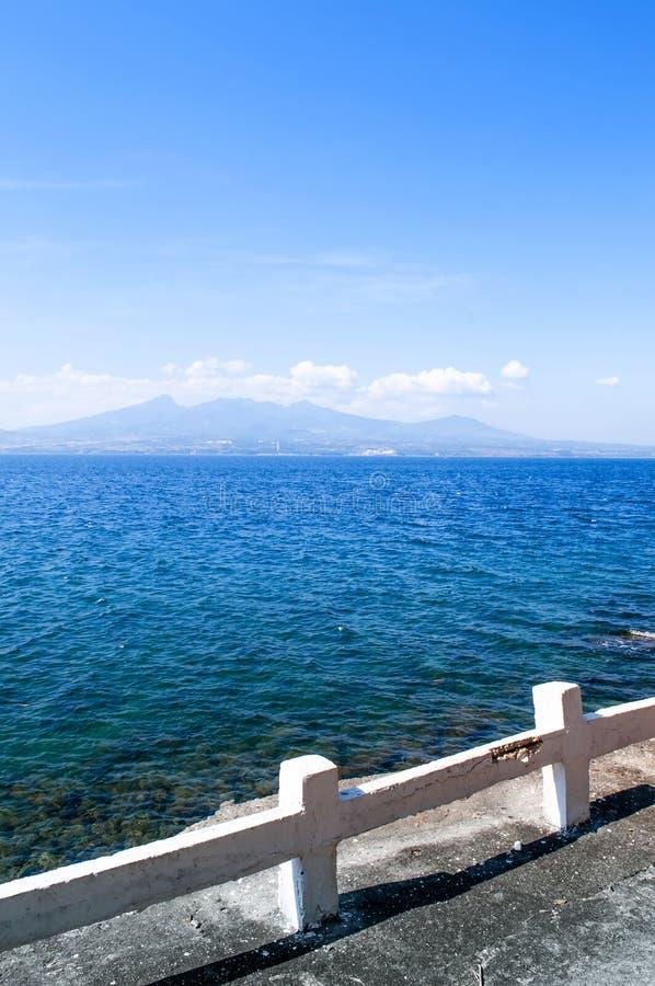 Montagem bonita Mariveles da ilha de Corregidor, Manila, Philip fotografia de stock royalty free