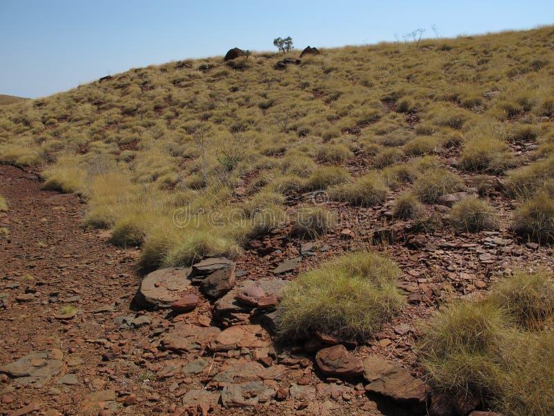 Montagem Bruce perto do parque nacional de Karijini, Austrália Ocidental fotos de stock royalty free