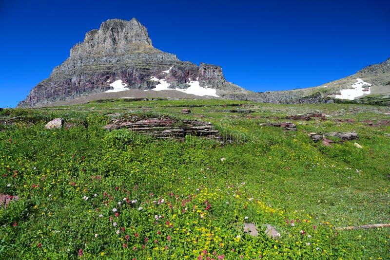 Montagem Clemons do parque nacional de geleira fotografia de stock royalty free