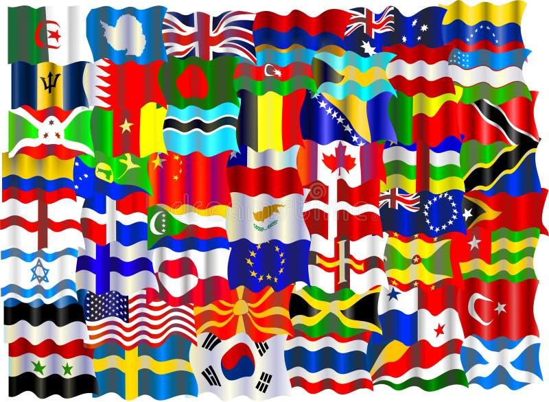 Montagem da bandeira ilustração royalty free