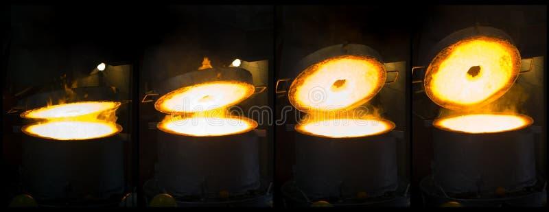 Montagem da fornalha do ferro da abertura imagens de stock royalty free