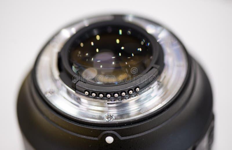 Montagem da lente de close up fotografia de stock