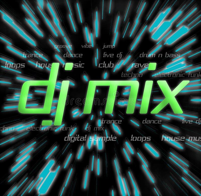Montagem da mistura do DJ ilustração do vetor