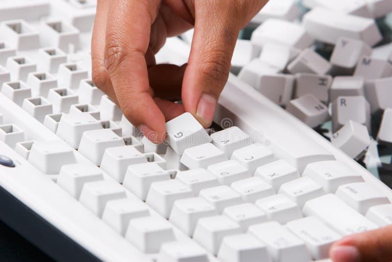 Montagem do teclado fotografia de stock royalty free
