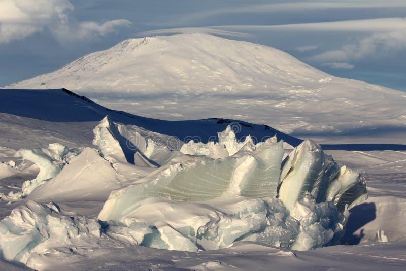 Montagem Erebus, a Antártica fotografia de stock