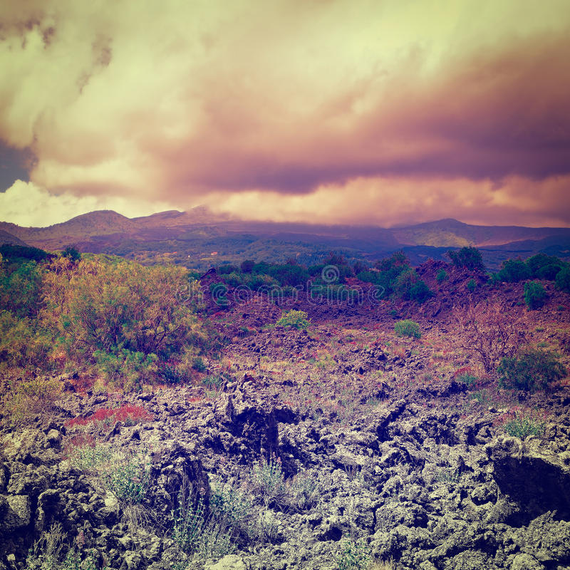 Montagem Etna imagem de stock