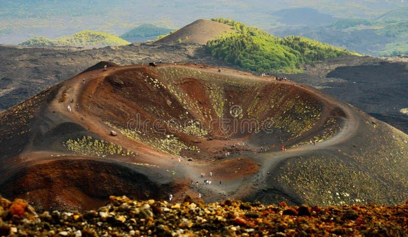 Montagem Etna do vulcão imagem de stock