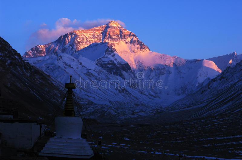Montagem Everest foto de stock royalty free