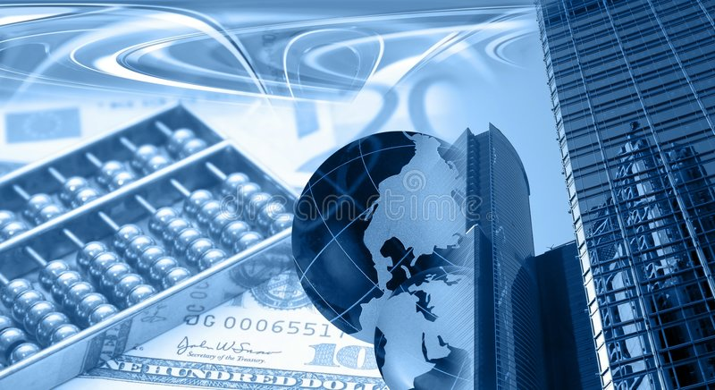 Montagem financeiro foto de stock